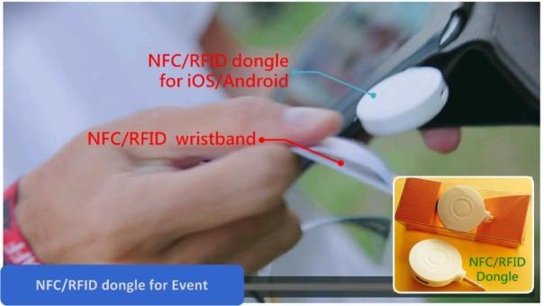 NFC RFID dongle for event