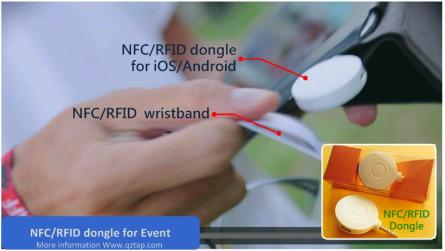 RFID NFC dongle for event